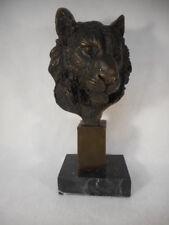 "Vintage Tiger Bronze 9 1/2"" Tall Nice Detail"