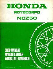 Honda NCZ50 Motocompo 1982 1983 Shop Manual