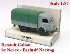 Renault Galion 2,5t camion bâché gris clair - Norev - Echelle 1/87 - Ho