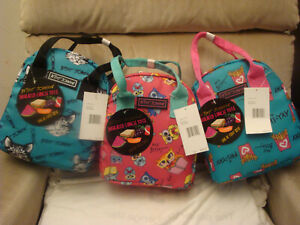 BETSEY JOHNSON DONUTS/UNICORN/CAT/OWLS/COFFEE/SKULL INSULATED LUNCH TOTE BAG NWT