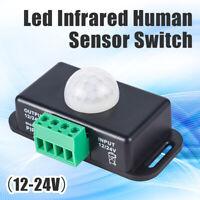 Automatic DC 12V-24V 8A Infrared PIR Motion Sensor Switch for LED Light Lamp