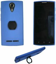Case for Unimax Umx U693Cl Tpu Silicone Cover + Metal 360° Rotating Ring Blue
