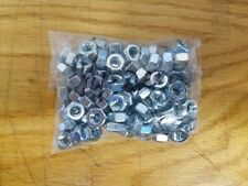 1/4-20 Hex Nut Grade 2 Zinc Plated 100pc Packs - NEW