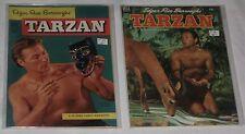 Golden Age 2 Books TARZAN Photo Covers Lex Barker  #37, #44 Avg VF-