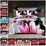 3D Duvet Cover Quilt Covers 4 Piece Bedding Set with Pillow Case & Fitted Sheet