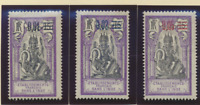 French India Stamp Scott #50, 51, & 53, Mint Hinged