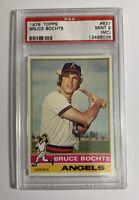 1976 Topps Baseball #637 Bruce Bochte PSA 9 Mint (MC)