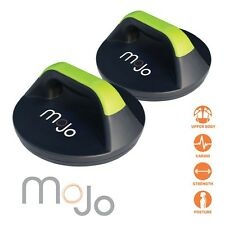 New MoJo Push Up Pro Body Workout Rotating Grips Stand Gym Fitness