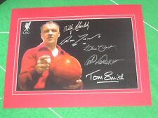 Liverpool Bill Shankly foto montati firmato x 4 Yeats, Lawrence, Lawler & Smith