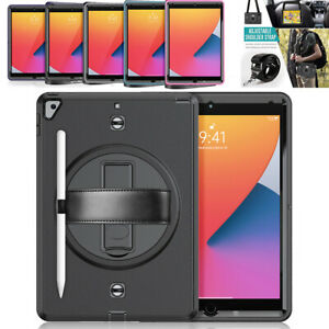For iPad 9.7 5th 6th 10.2 7th 8th Gen Military 360 Protective Tablet Case Cover