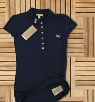 Burberry T-Shirt Polo Womens Cotton Brit Size M