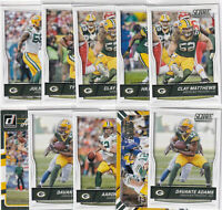 LOT (17) GREEN BAY PACKERS AARON RODGERS ADAMS - 2016 DONRUSS SCORE - F131