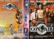 CON AIR - Nicholas Cage - VHS - PAL - NEW - Never played! - Original Oz release