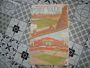 Port Vale v Hull Mar 1955