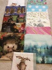 50 PAPER NAPKINS MIXED LOT CRAFTING DECOUPAGE