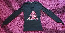 Spiral Direct S Small Red Dragon Black Long Sleeve Top Gothic