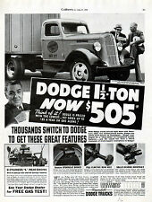 1936 Dodge Truck Ad --1 1/2 Ton--Stake 6 Cylinder -Now $505 ----t764