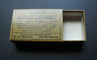 Vintage 1920s Mearig Throat Lozenges Empty Advertising Cardboard Box