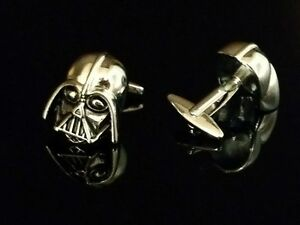 Star Wars Darth Vader New Metal/Silver Mens Cuff Links Silver-Plated Copper Gift