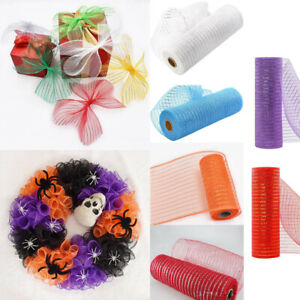 Deco Mesh Rolls 26cm x 10yd Roll Available for Wreaths Bows Party Gift Decor