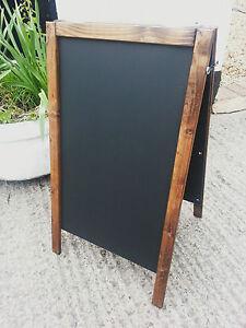 Dark Pine Wooden A Board - Sandwich - Blackboard - 70 x 40cm - Made in UK