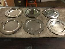 Vintage Set Of 6 Silverplate Silver Dessert Salad Plates