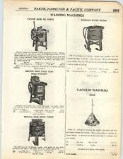 1923 PAPER AD 5 PG Peerless Horton Water Motor Parts Repair Washing Machine Wood