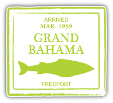 "Grand Bahama Freeport Grunge Travel Stamp Car Bumper Sticker Decal 5"" x 4"""