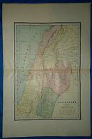 Vintage 1892 Atlas Map ~ PALESTINE - DEAD SEA ~ Old Antique Original ~ Free S&H