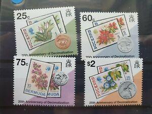 Bermuda 1995 25th Anniversary of Decimal Currency set of 4, MNH