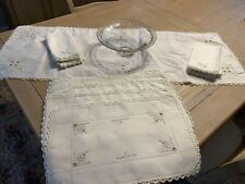 Fine Vintage/Antique Linen Runner, 8 Napkins & Placemats