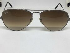 Ray Ban Aviator RB3025 004/51 Gunmetal Light Brown Gradient Lenses Sunglasses