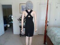 Ann Taylor Black Cross Back Sheath Dress Size 4P