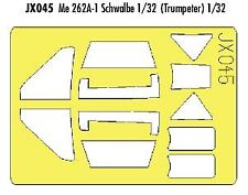 Eduard 1/32 Messerschmitt Me 262A-1 Schwalbe Pintura Máscara para Trumpeter # JX045