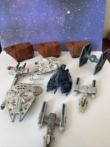 Micro Machines Star Wars Lot Of 10 Titanium Collection V2