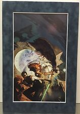"STAR WARS ""REMNANT"" By Jon Foster Pro Matted Print Han Solo Light Saber Skull"