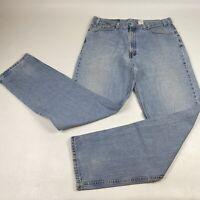 Vintage Levis 550 Blue Jeans Mens Sz 38x36 Relaxed  Fit Light Stone Wash Denim
