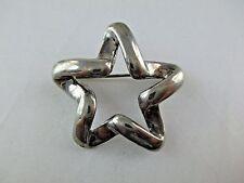 Vintage Sterling Silver Star Brooch Pin 518C