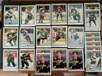 1990-91 & 91-92 O-Pee-Chee Premier Minnesota North Stars Team Set 23 Modano RC