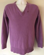 Vintage NIKE Sweater Spell out Swoosh Men's Size Large V-neck Lavender