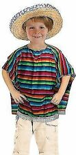 Kids Child Mexican Poncho Fancy Dress Spanish Holiday Costume Festival