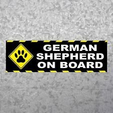 """GERMAN SHEPHERD ON BOARD"" police dog BUMPER STICKER decal puppy K9 warning sign"