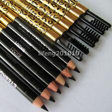 12pcs leopard black eye brow liner pen with brush Makeup Eyebrow eyeliner pencil