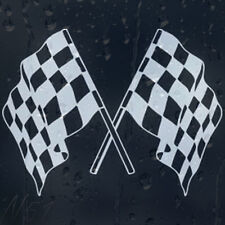 Racing Chequered Flag Car Windscreen Body Panel Laptop Decal Vinyl Sticker