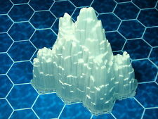 6-Hex Glacier or Ice Mountain with base Heroscape Terrain - Thaelenk Tundra