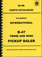 "International ""B-47"" Tractor Baler Illustrated Parts Book Manual"