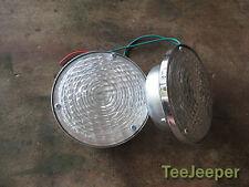 2 x new White Clear Park Lamps & Signal Jeep CJ5 CJ6 CJ7 CJ8