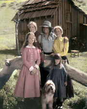 "LITTLE HOUSE ON THE PRAIRIE TELEVISION ACTORS 8x10"" HAND COLOR TINTED PHOTOGRAPH"
