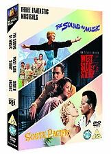 Musicals Collection The Sound Of Music/South Pacific/West Side NEW SEALED DVD