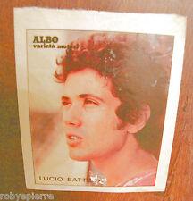 Adesivo albo varietà motori LUCIO BATTISTI FOTO PRIMO PIANO sticker vintage